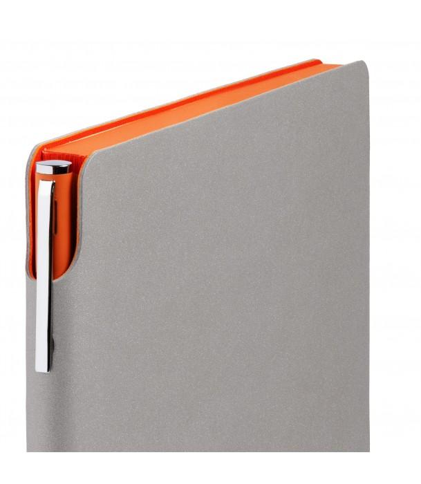 Ежедневник Flexpen недатированный, серебристо-оранжевый Адъютант