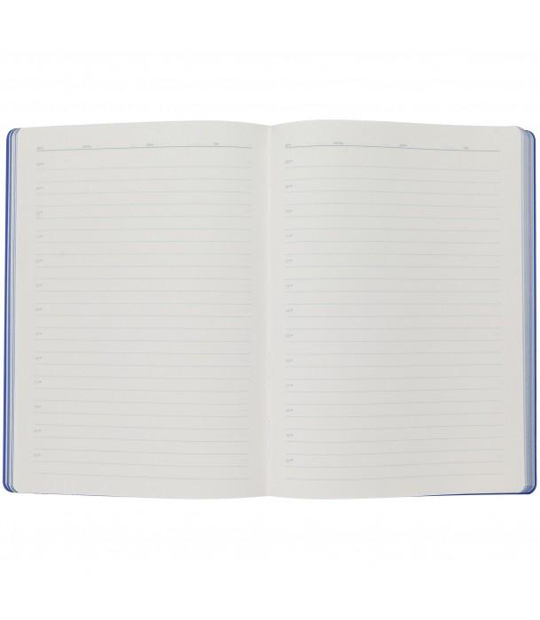 Ежедневник Flexpen недатированный, серебристо-синий Адъютант