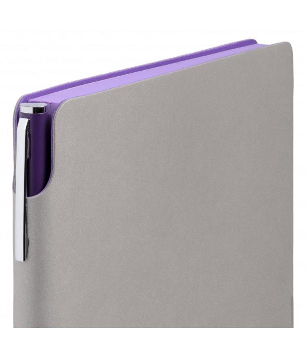 Ежедневник Flexpen недатированный, серебристо-фиолетовый Адъютант