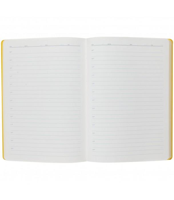 Ежедневник Flexpen недатированный, серебристо-желтый Адъютант