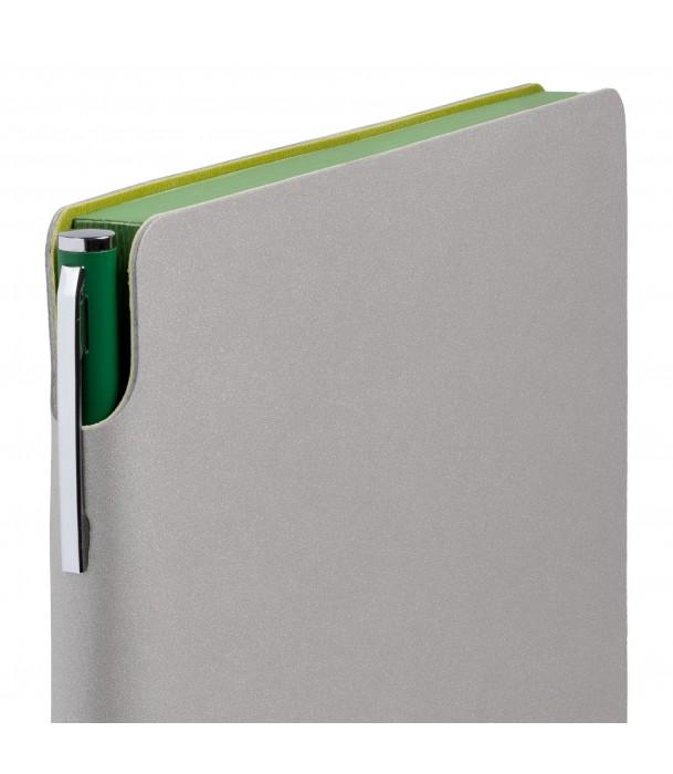 Ежедневник Flexpen недатированный, серебристо-зеленый Адъютант