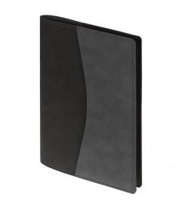 Ежедневник  в суперобложке Reversible, недатированный черный с серым