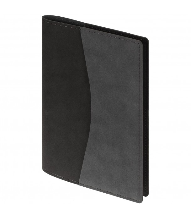 Ежедневник  в суперобложке Reversible, недатированный черный с серым Адъютант