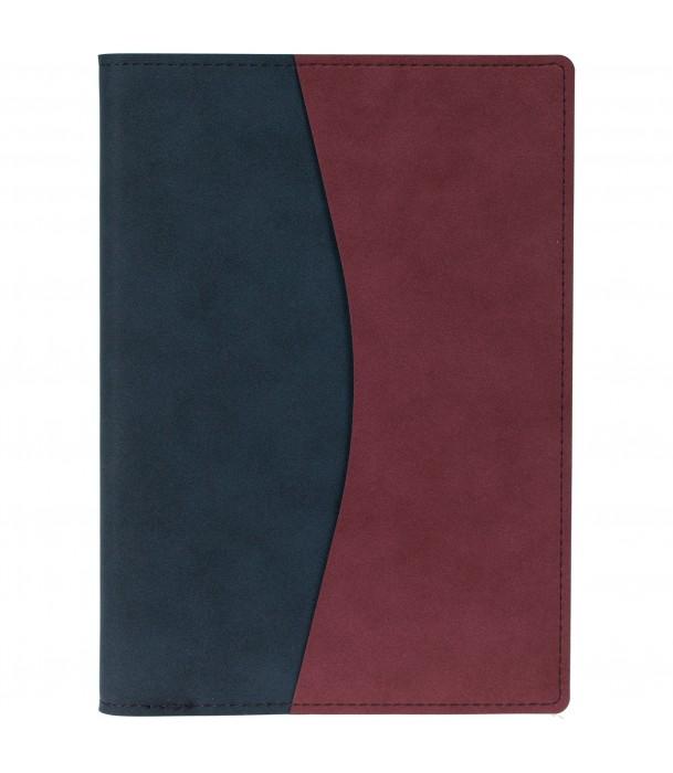 Ежедневник  в суперобложке Reversible недатированный, синий с бордовым Адъютант