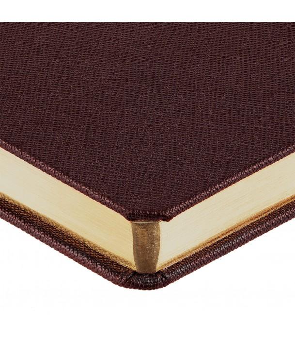 Ежедневник Saffian недатированный, коричневый Адъютант