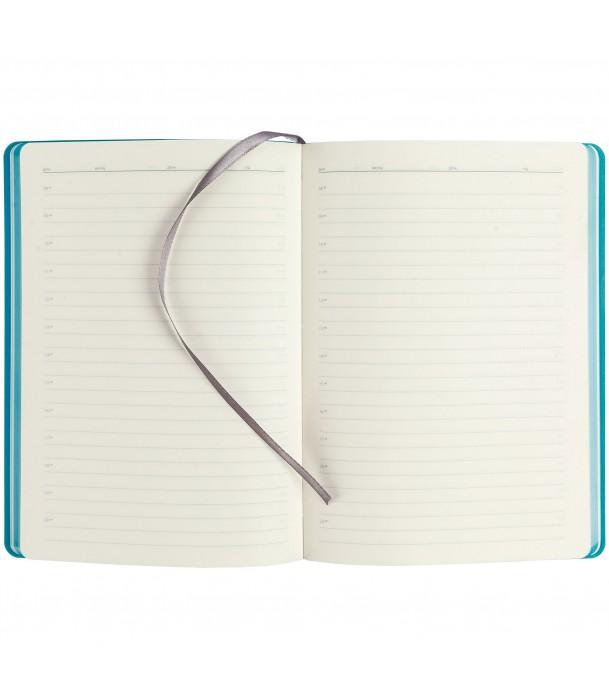 Ежедневник SLIP недатированный, серый с бирюзовым Адъютант