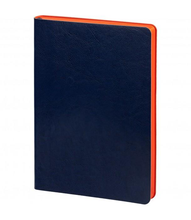 Ежедневник SLIP недатированный, синий с оранжевым Адъютант