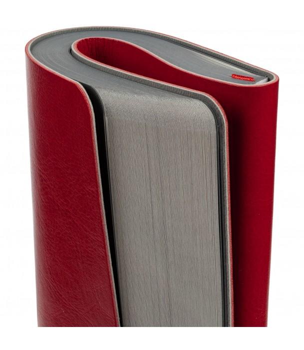 Ежедневник SLIP недатированный, красный с серым Адъютант