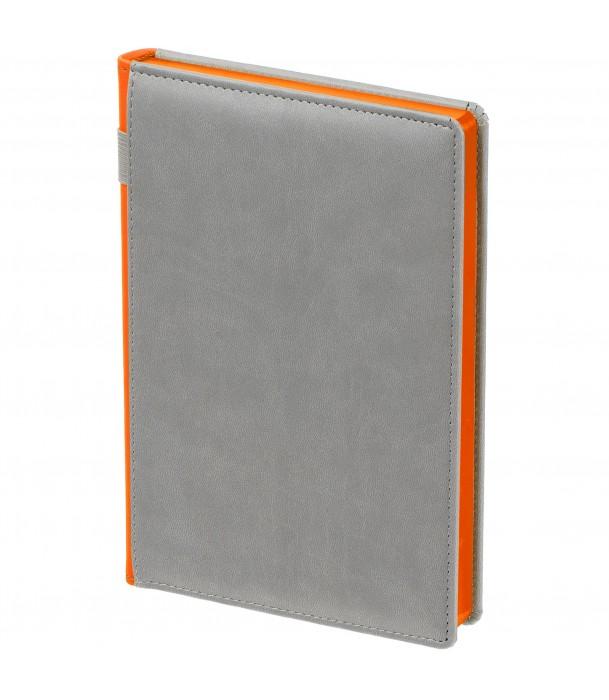 Ежедневник SPAIN недатированный серый с оранжевым Адъютант