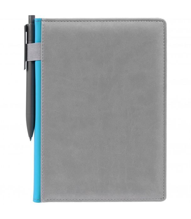 Ежедневник SPAIN недатированный серый с голубым Адъютант
