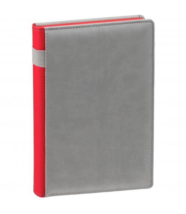Ежедневник SPAIN недатированный серый с красным Адъютант