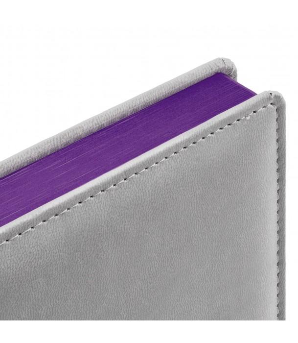 Ежедневник SPAIN недатированный серый с фиолетовым Адъютант