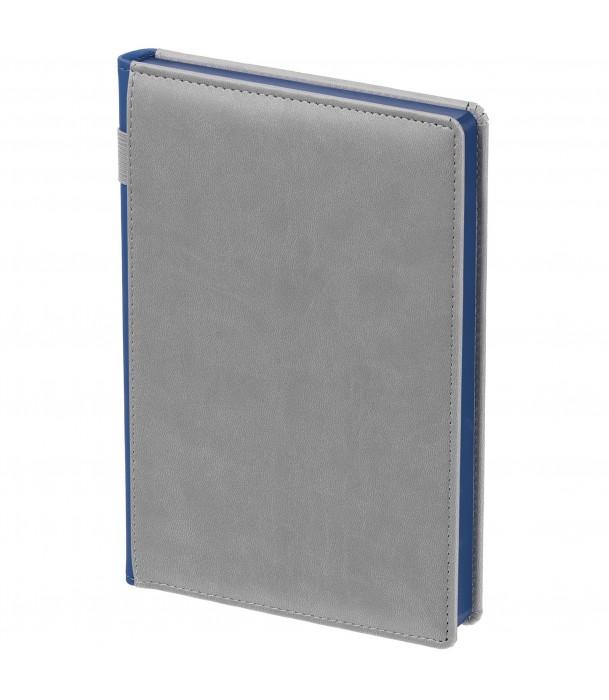 Ежедневник SPAIN недатированный серый с синим Адъютант