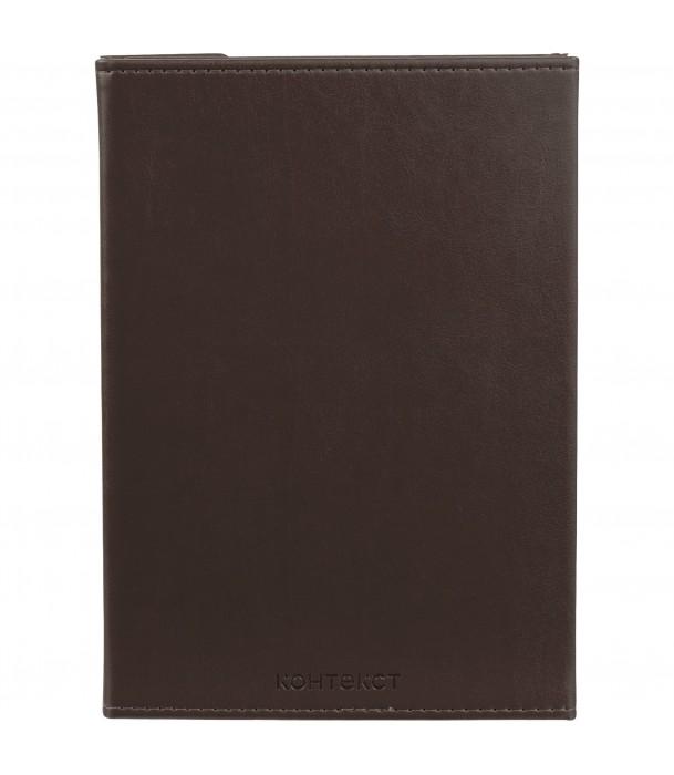 Ежедневник Flap недатированный, коричневый Адъютант