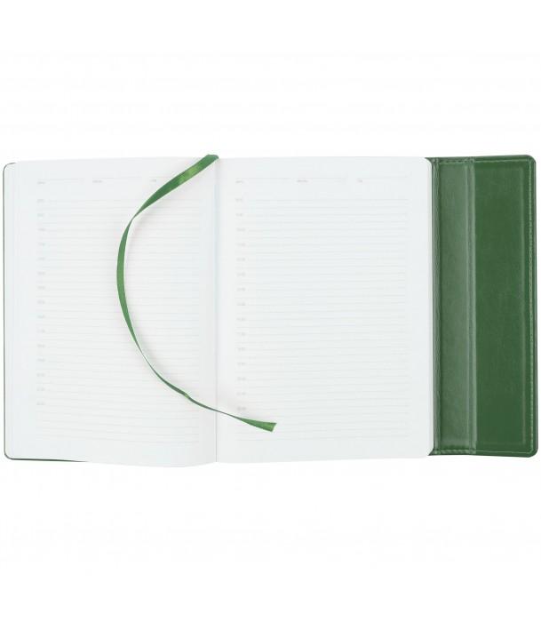 Ежедневник Flap недатированный, зеленый Адъютант