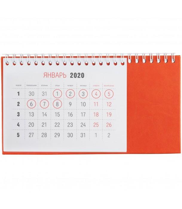 Календарь настольный, оранжевый Адъютант