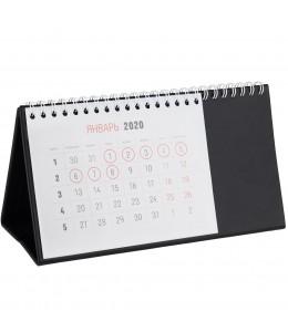 Календарь настольный, черный