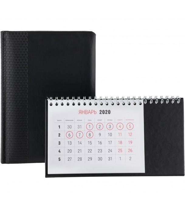 Календарь настольный, черный Адъютант