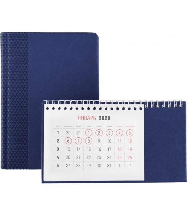 Календарь настольный, синий Адъютант