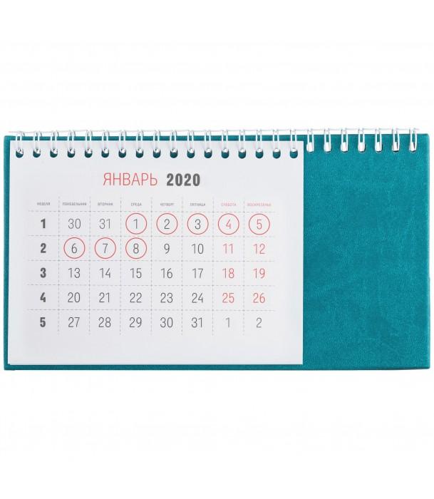 Календарь настольный, бирюзовый Адъютант