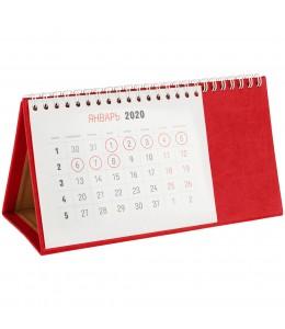 Календарь настольный, красный