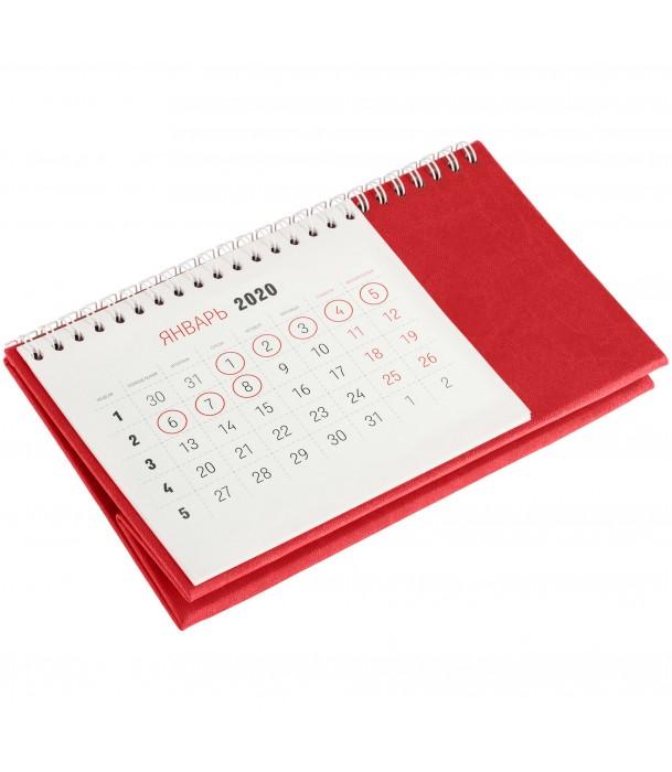 Календарь настольный, красный Адъютант