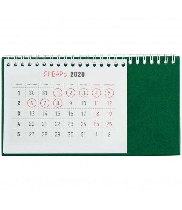 Календарь настольный, зеленый Адъютант