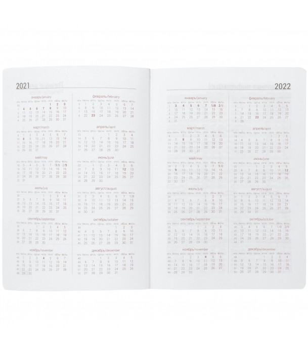 Ежедневник Basis, датированный бирюзовый Адъютант