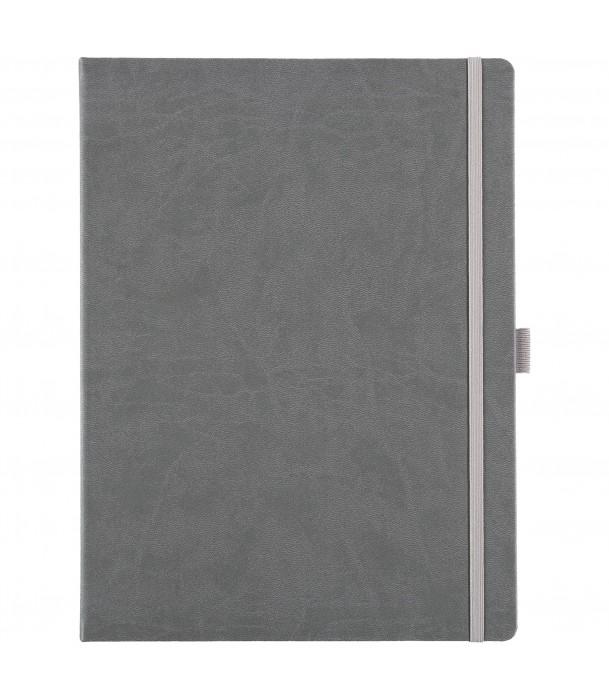 Блокнот Freenote Maxi в линейку, серый Адъютант