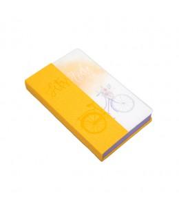 Записная книжка, желтая Bike