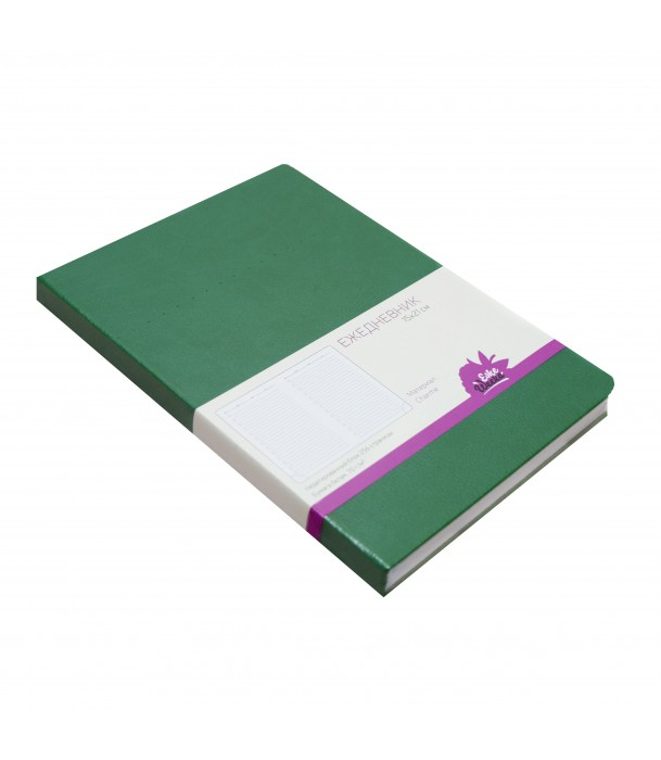 Ежедневник недатированный, зеленый «Шарм» Адъютант