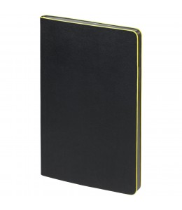 Блокнот в точку Trait, черно-желтый