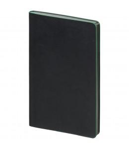 Блокнот в точку Trait, черно-зеленый