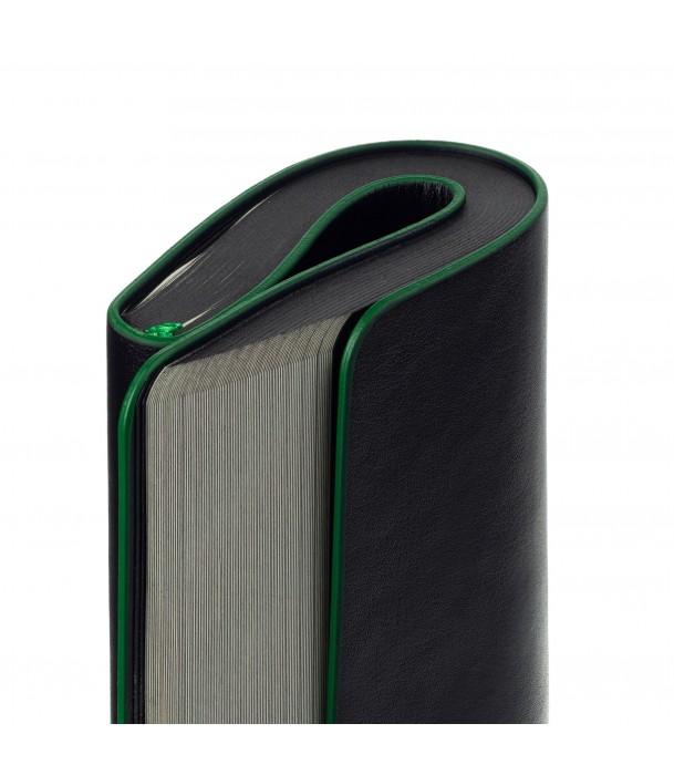 Блокнот в точку Trait, черно-зеленый Адъютант