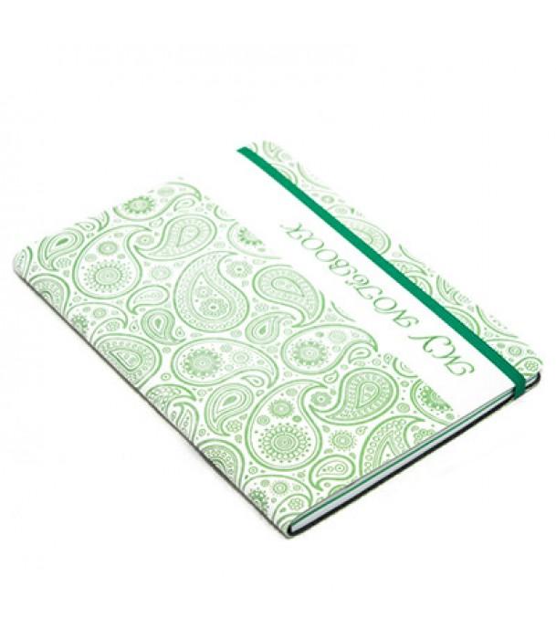 Записная книжка в клетку/линейку, зеленая - «Турецкие огурцы» Адъютант