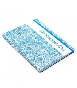 Записная книжка в клетку/линейку, синяя- «Турецкие огурцы»